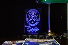 Nassau County Police Proud Family Gift Light - Engraved Acrylic Color Changing LED
