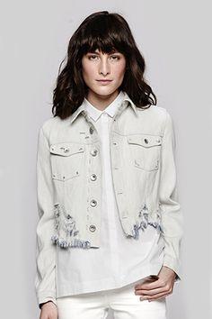 Denim Daze: 14 Jean Jackets You'll Go Gaga Over  #refinery29 Theyskens' Theory Jenja Jacket, $425, available at The Dreslyn
