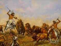 Image result for Hunting buffalo art