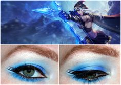 League of Legends inspired makeup - Original Ashe