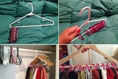 Porte foulard avec anneaux de rideau de douche
