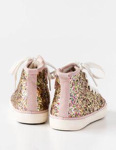 Glitter High Tops for Girls