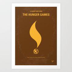 No175 My Hunger Games minimal movie poster Art Print by Chungkong - $18.00