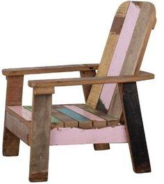 Lounge stoel sloophout girl (waarom bestaat deze niet voor grote mensen..?) € 59,-