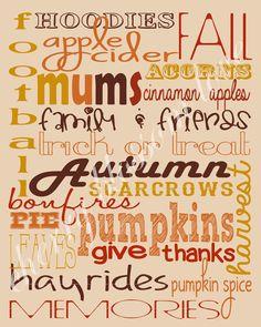 festive fall fonts & fall printable