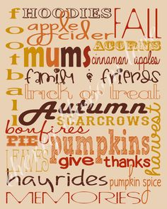 festive fall fonts & fall printable