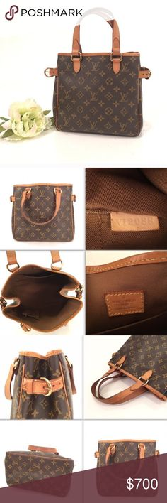 Louis Vuitton Batignolles 100% authentic.Made in France. Discontinued style. Monogram canvas is in very good condition. Handles has nice honey patina, no tears or stain. Edges has honey patina, just normal signs of use. Interior is in very good good condition and very clean. It has a little old leather smell since its been stored for a while. Overall, it's still a fabulous purse and timeless. It doesn't come with a dustbag.Ships next day during business day. Check out my closet for more…