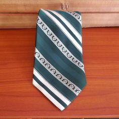 Britt Green Striped St. Patrick's Day Irish Men's Neck Tie #Britt #Tie