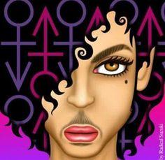 Prince inspired art.