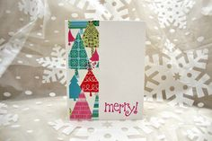 Vintage Style Christmas Card Set Retro by ThePaperMenagerie
