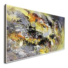 Amazon.com: Abstract Original Art Large Acrylic Oil Painting On Canvas Textured Art Contemporary Wall Art Original Painting Art For Large Wall Abstract Art: Handmade