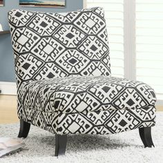 Monarch Specialties Inc. Abstract Slipper Chair & Reviews | Wayfair
