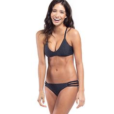 Capitola Reversible Bikini Top - Dot Dot Dot on one side, stripes on the other!