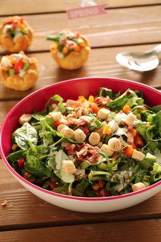 The one with all the tastes | Ανοιξιάτικη σαλάτα σε φωλιές ζύμης