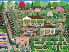 Botancial Garden Flower Show, 300 Pieces, Lafayette Puzzle Factory | Puzzle Warehouse