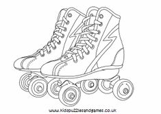 Roller skating color page Coloring pages for kids … – Play coloring with us Coloring Book Pages, Coloring Pages For Kids, Coloring Sheets, Roller Derby Tattoo, Kids Roller Skates, Derby Skates, Puzzles For Kids, Roller Skating, Summer Colors