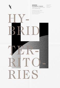#graphic design #posters #advertisement #typography - Galerie Kamchatka - Identité dexpositions - Les Graphiquants