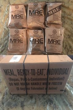 Food And Drink: Lot Of 6 Vegetarian Meal Ready To Eat (Mre) Military Issue Field Ration -> BUY IT NOW ONLY: $29.99 on eBay!