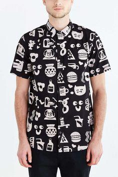 Lazy Oaf Bassman Short-Sleeve Button-Down Shirt