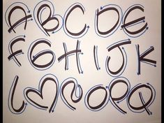 CURSO LETRA TIMOTEO GRATIS!! - YouTube Hand Lettering Alphabet, Doodle Lettering, Graffiti Lettering, Calligraphy Letters, Brush Lettering, Bubble Letters, Lettering Tutorial, Handwriting Fonts, Alphabet And Numbers