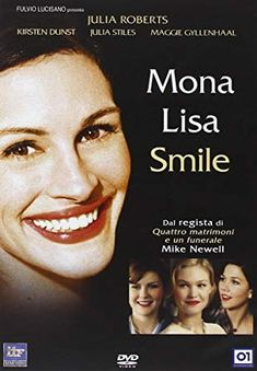 The story of Katherine Ann Watson, a feminist teacher who studied at UCLA graduate school and in 1953 left her boyfriend behind in Los Angeles,. Tv Series Online, Movies Online, Mike Newell, Mona Lisa Smile, Maggie Gyllenhaal, Julia Stiles, Streaming Hd, Party Service, Kirsten Dunst