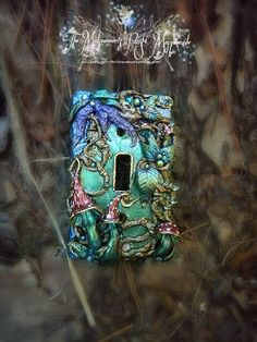 Enchanting Fairy Door lightswitch cover handmade in the USA