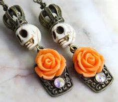 sugar skulls with roses and a crown - Yahoo Image Search Results