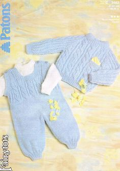 Patons3482 cable jumper and dungarees baby vintage by Ellisadine, £1.15