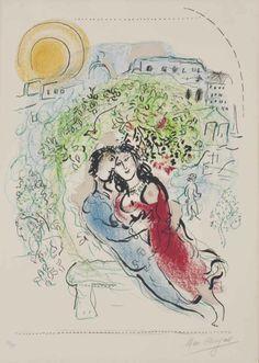 Marc Chagall ~ Le Square de Paris