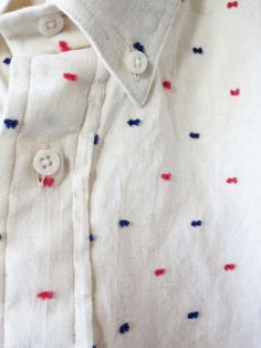 workingmans-blues: bleu-indigo: flecks Levi's Vintage Clothing mini-bowtie shirt.