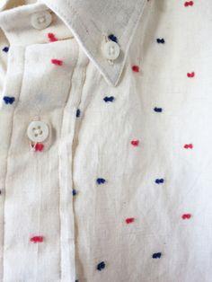 workingmans-blues: bleu-indigo: flecks Levi's Vintage Clothing mini-bowtie shirt.