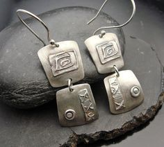 Double Take   Silver Earrings by designsbysuzyn on Etsy, $70.00