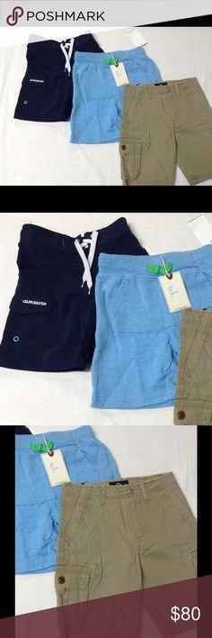 $106 3lot Quiksilver Sovereign Code boys shorts 4T 3 lot boys shorts Bottoms Shorts