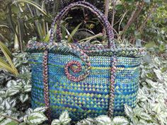 Flax Weaving, Weaving Patterns, Straw Bag, Swag, Knitting, Crochet, Spinning, Baskets, Middle