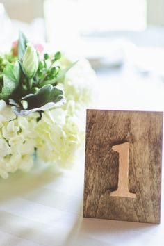 wood table numbers photography: Paper Antler - paperantler.com  Read More: http://stylemepretty.com/2013/10/17/manchester-vermont-wedding-from-paper-antler/