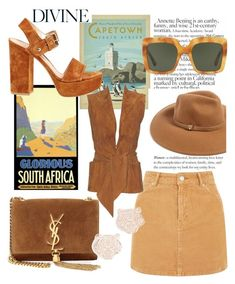 """""""Cape Town Travel Outfit"""" by mdfletch ❤ liked on Polyvore featuring Topshop, Hermès, Yves Saint Laurent, Dolce&Gabbana, Forever 21, Gianvito Rossi, Kenzo and CapeTown"""