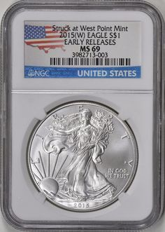 2015-W BURNISHED SILVER EAGLE ~ NGC MS69 ~ EARLY RELEASES ~ FREE SHIPPING