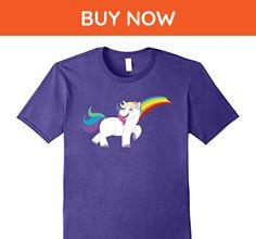 Mens Unicorn Rainbow T Shirt 3XL Purple - Fantasy sci fi shirts (*Amazon Partner-Link)