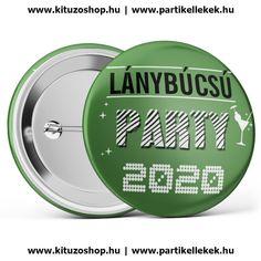 Lánybúcsú Party 2020 kitűző zöld