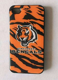 Fitted iPhone 4/4s Cases NFL Bengals logo back covers by Hiidea, $13.99
