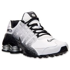 Men's Nike Shox NZ EU Running Shoes  | FinishLine.com | White/Metallic Silver/Black - Got these today and they are the most comfortable sneakers I have had in 20 years (miss my old Nike Air Flight Lites)