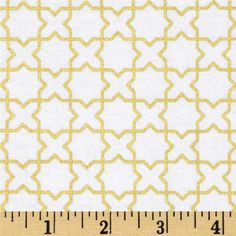Riley Blake Wonderland Sparkle Labyrinth Gold from @fabricdotcom  Designed by Melissa Mortenson for Riley Blake, this cotton print is perfect for quilting, apparel and home decor accents. Colors include with with gold metallic accents.