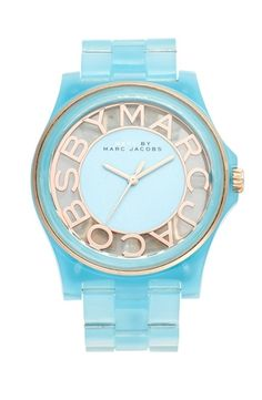 MARC by Marc Jacobs 'Henry Skeleton' Bracelet Watch, 41mm River Blue from Nordstrom on Catalog Spree