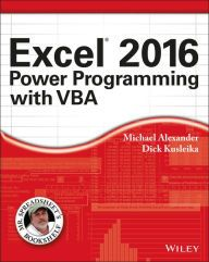 Excel 2016 Power Programming with VBA / Edition 1 by Michael Alexander Download
