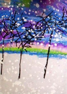 10 Winter Themed Elementary Art Lessons ~ Seasonal Art Projects the Don't Involve the Holidays Winter Art Projects, School Art Projects, Winter Thema, January Art, December, Doodle Drawing, 2nd Grade Art, Ecole Art, Art Activities