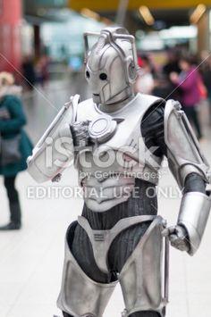 Doctor Who Celebration 2013 - Cyberman Portrait Royalty Free Stock Photo