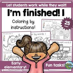"""Students work in different paces, and some are eager to share whenever they are finished. Others will at that point have quite a bit of work left to do. The """"I'm finished""""-packs are created to occupy the early finishers, and this is the first pack in the series."""