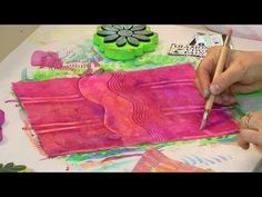 @: Paste Paper Is Fabulous Lets Get Started - HowToGetCreative.com with Barb Owen - YouTube