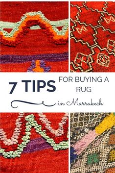 7 Tips for Buying a Rug in Marrakech. When you come to Morocco and want to buy a rug (or a zerbiya – the Arabic word) to bring home with you keep these things in mind.