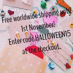 Don't forget about the free shipping until 1st Nov! link in profile #freeshipping #lasercut #jewelry #jewellery #halloween #creative #handmade #madeinbritain #etsy #etsyuk #abmlifeiscolorful #abm by jesscollinge